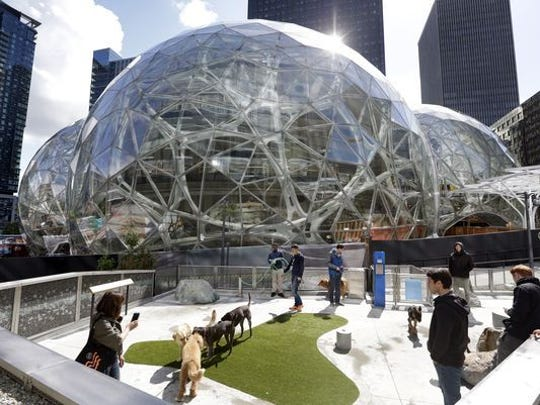 Three giant glass spheres are being added to Amazon's downtown campus in Seattle.