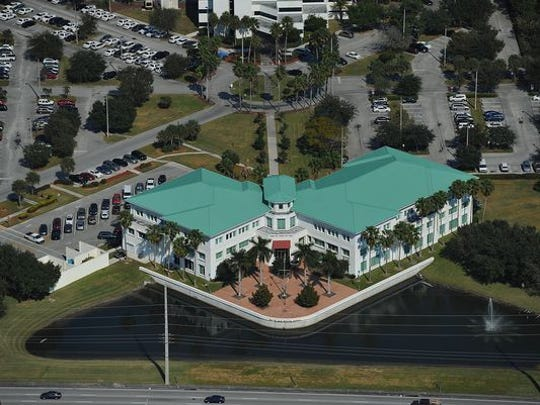An aerial of Port St. Lucie City Hall at Port St. Lucie
