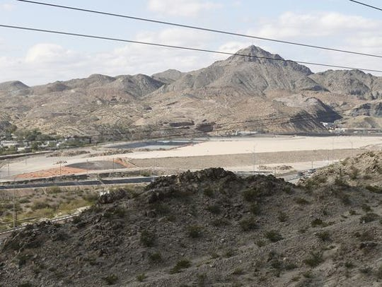 The former Asarco copper smelter site northwest of