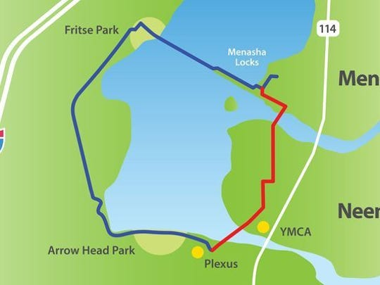 The cities of Neenah and Menasha have built Loop the Lake, a 5K trail around a portion of Little Lake Butte des Morts.