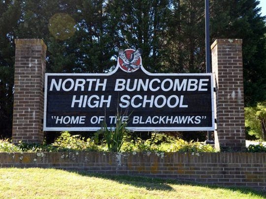 North Buncombe High School sign.