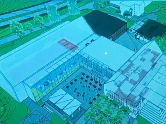 Rendering of Oglesby Union which is expected to undergo