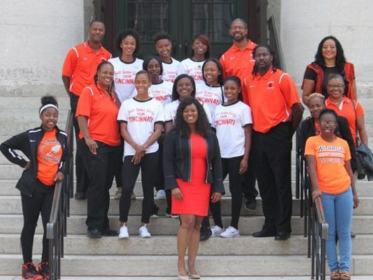 The three-time Division I state champion Withrow track team was invited to the State House by Representative Alicia Reese.