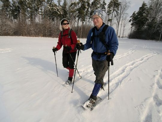 Snowshoeing is great exercise.