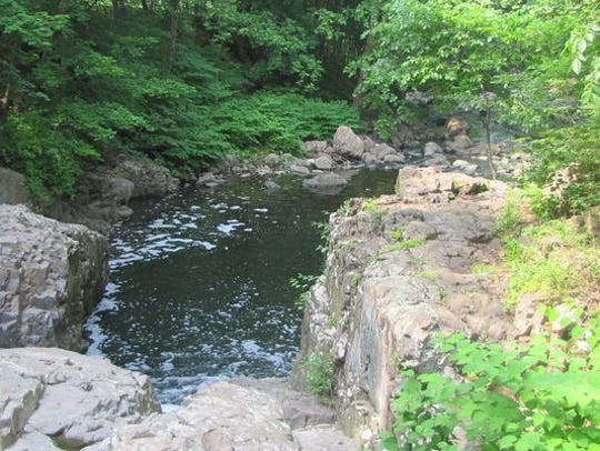 The Peckman River, a tributary of the Passaic River,