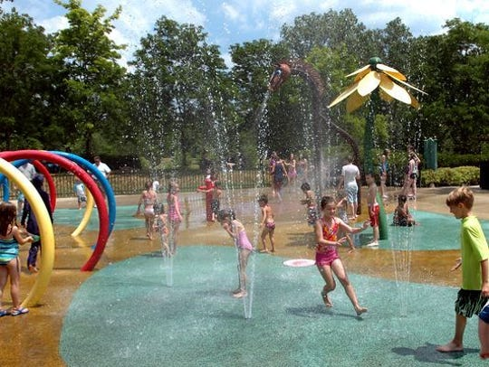 The sprayscape in Plymouth Township Park is a popular