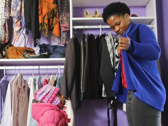 Linda's Closet at Family Scholar House distributes donations of professional clothing.