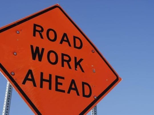 Motorists will see orange construction signs this week in New Castle and Kent counties.