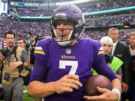 Former Abilene Wylie now Minnesota Vikings quarterback Case  Keenum has a knack for improbable comebacks.