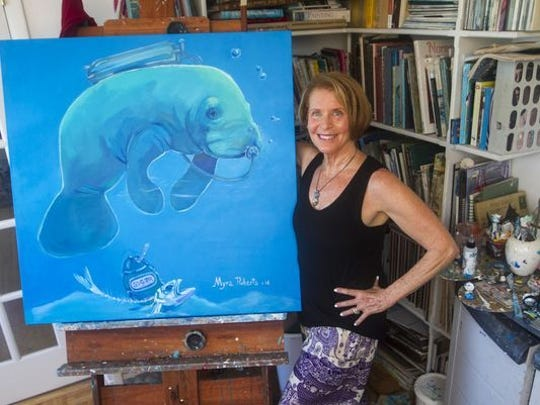 Artist Myra Roberts of Sanibel