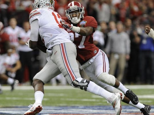 Nick Perry made 51 solo tackles his senior year at Alabama in 2014.