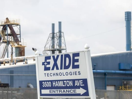 The Exide Technologies plant in Muncie recycles spent