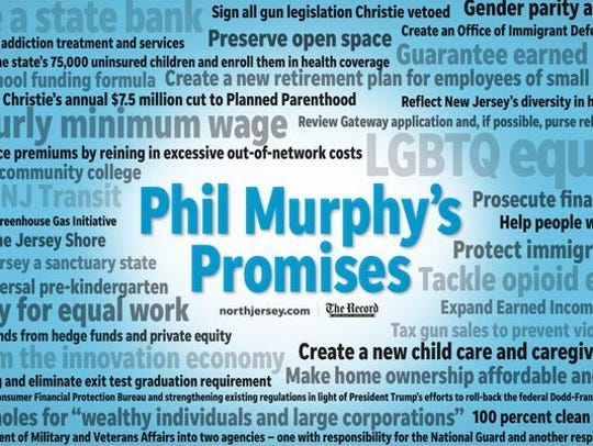 Here's a look at all the promises Phil Murphy made