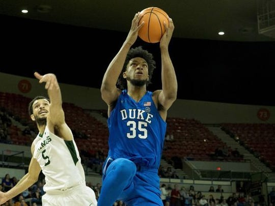 Freshman Marvin Bagley leads Duke in both scoring and