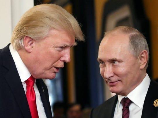 Russian President Vladimir Putin and President Trump
