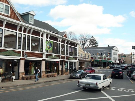 Boonton's downtown prior to the coronavirus pandemic shut stores.