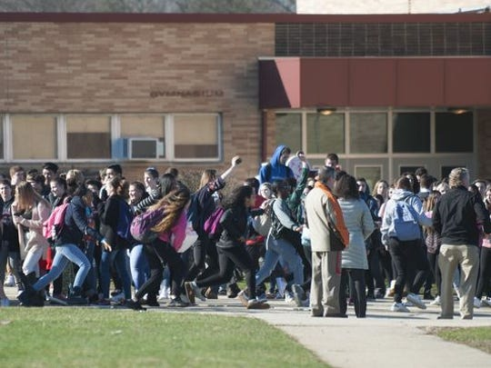 Cherry Hill High School East students stage a walkout