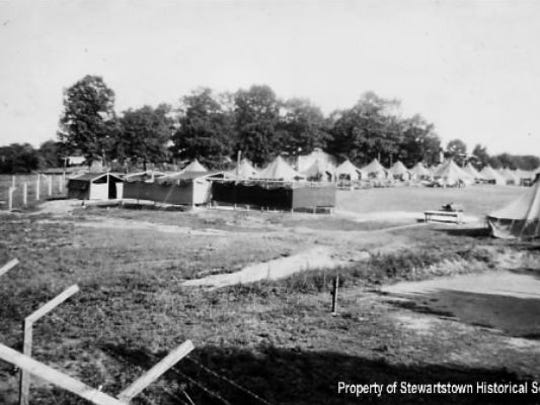Camp Stewartstown, home to about 2,000 German POWs. They were transported to this area from Fort Indiantown Gap to pick fruit, work in canneries and other agricultural work needed after the military called residents to service.