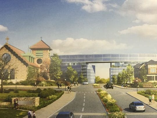 Rendering of development concept for former Good Counsel