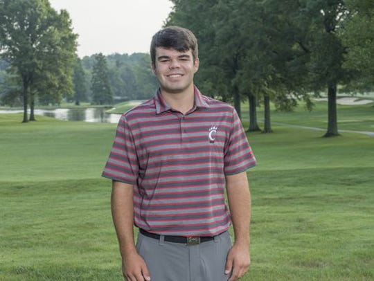 University of Cincinnati golfer Austin Squires (Ryle