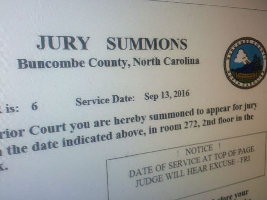 Buncombe County sends out close to 3,500 jury summons every month.