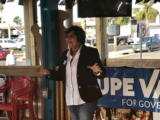Democrat Lupe Valdez at a campaign stop in Corpus Christi before the runoff in the governor's race.