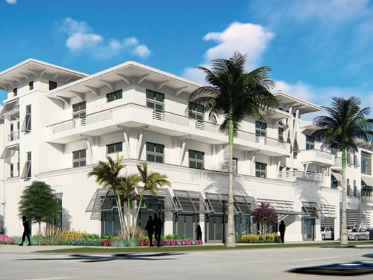 Rendering of boutique hotel 101 Development Group plans for Eighth Street South in Naples.