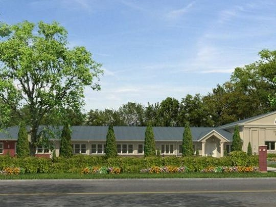 A rendering of the proposed Yeshiva at 1515 Logan Road