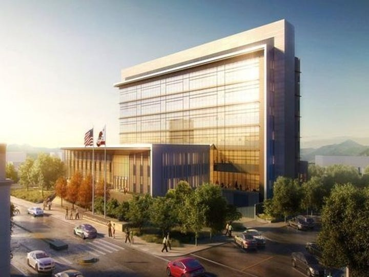 The new Shasta County Courthouse is expected to be