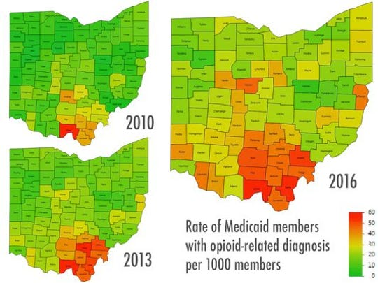 The number of Ohio Medicaid recipients who have an