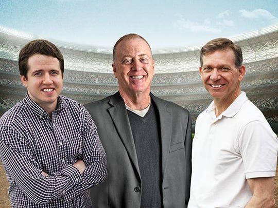 NorthJersey.com sports writers (from left): Matt Ehalt, Steve Popper and Pete Caldera.
