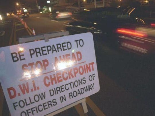 You have been warned: DWI checkpoints will be set up