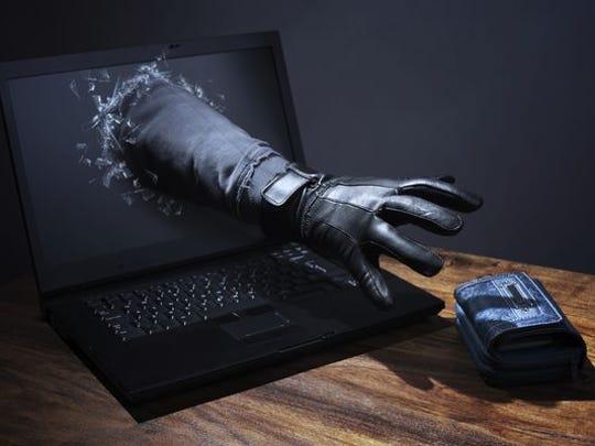 Online scam illustration