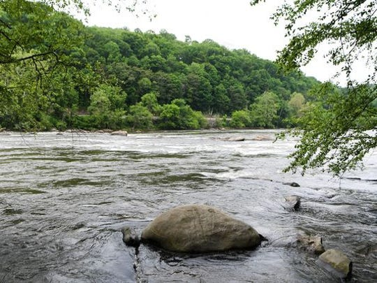 The French Broad carves it way through the mountains,