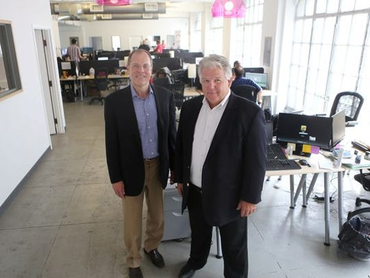 Bob Coy, left, and Mike Venerable of CincyTech.