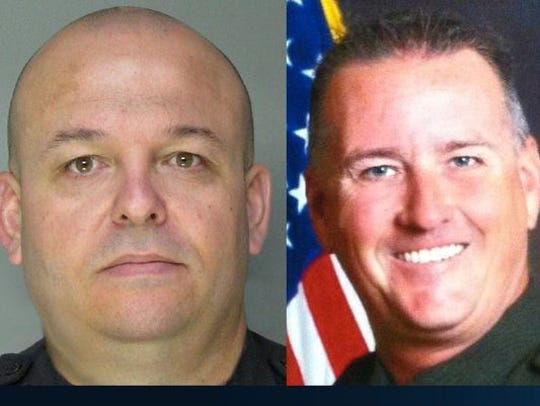 Deputy Danny Oliver (left) and homicide Detective Michael