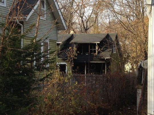 Firefighters responded to a blaze Sunday at the home of longtime Spring Valley firefighter Richard D. Bird Jr. No one was injured in the Ternure Avenue structure fire.