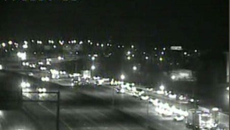 Traffic piling up on I-65 South around 11 p.m. Monday due to an injury accident.