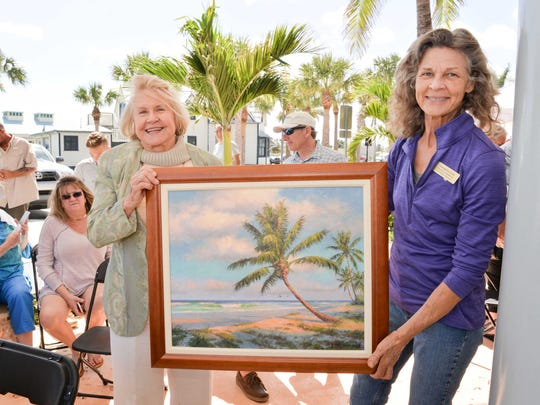 "Giclee winner Joan Berzansky, left, with Georgina Love at the 22nd annual ""All You Should Eat"" Backus Brunch on March 4."
