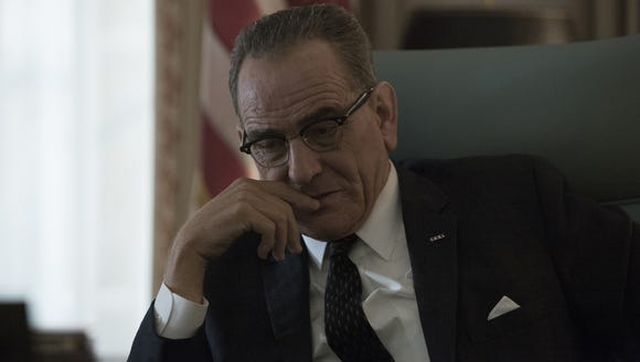 Bryan Cranston portrays President Lyndon B. Johnson