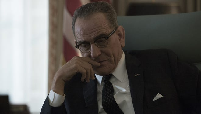 Bryan Cranston portrays President Lyndon B. Johnson in the HBO film, 'All the Way.'