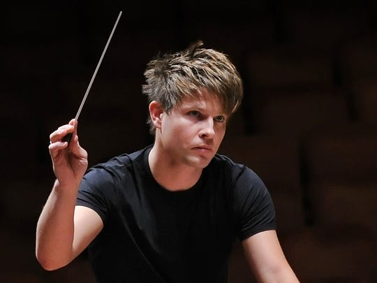 Conductor Krzysztof Urbanski will lead the Indianapolis Symphony Orchestra on Jan. 24 at Carmel's Palladium.