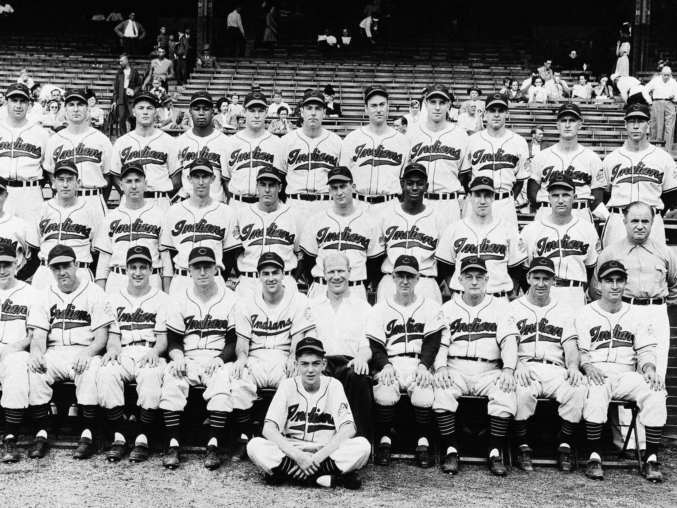 The 1948 Cleveland Indians, including Joe Tipton, shown