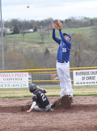 Cole Adams leaps to make a catch.