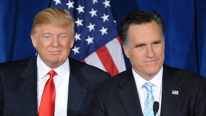 Trump and Romney in 2012.