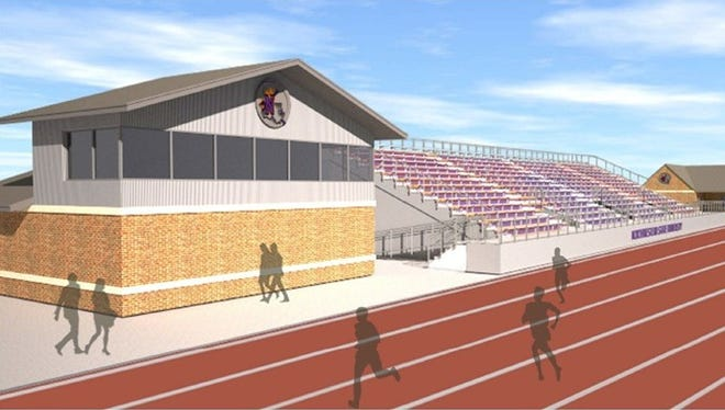 The proposal for the NSU track and field complex includes a press box, restrooms, 1,000 spectator grandstand and locker room.