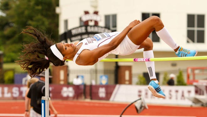 Mississippi State's Erica Bougard was named SEC Field Athlete of the Year on Tuesday.