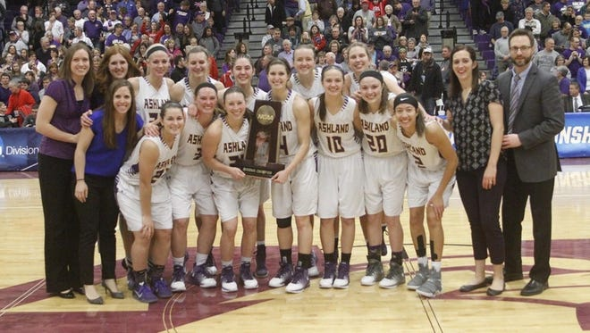 The Ashland University women's basketball team improved to 34-0 by winning a regional championship at home Monday night.