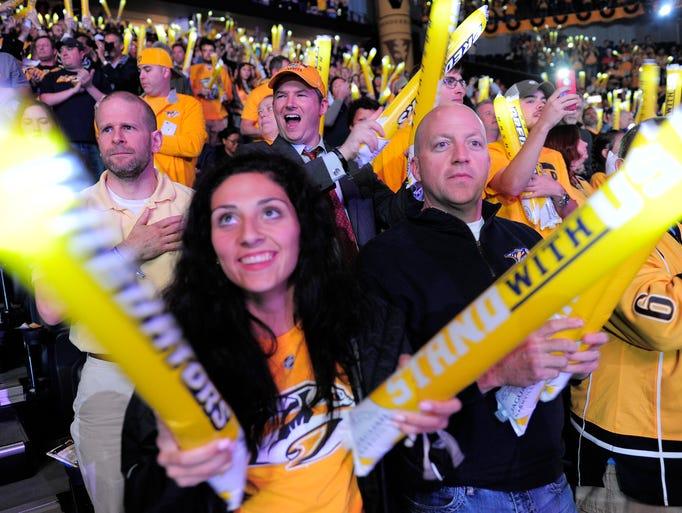 Predators fans at Game 4 vs. Ducks