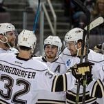 Hershey Bears' Chris Bourque was named the 2015-16 AHL MVP Friday.